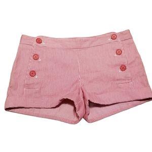 Talula Red Pinstripe Shorts